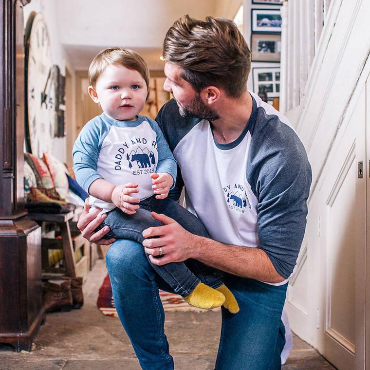 Daddy And Me Polar Bear T Shirt Set