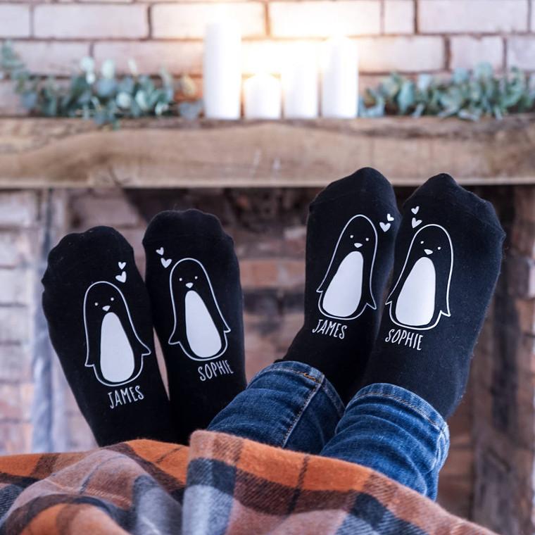 Penguin Couple Socks