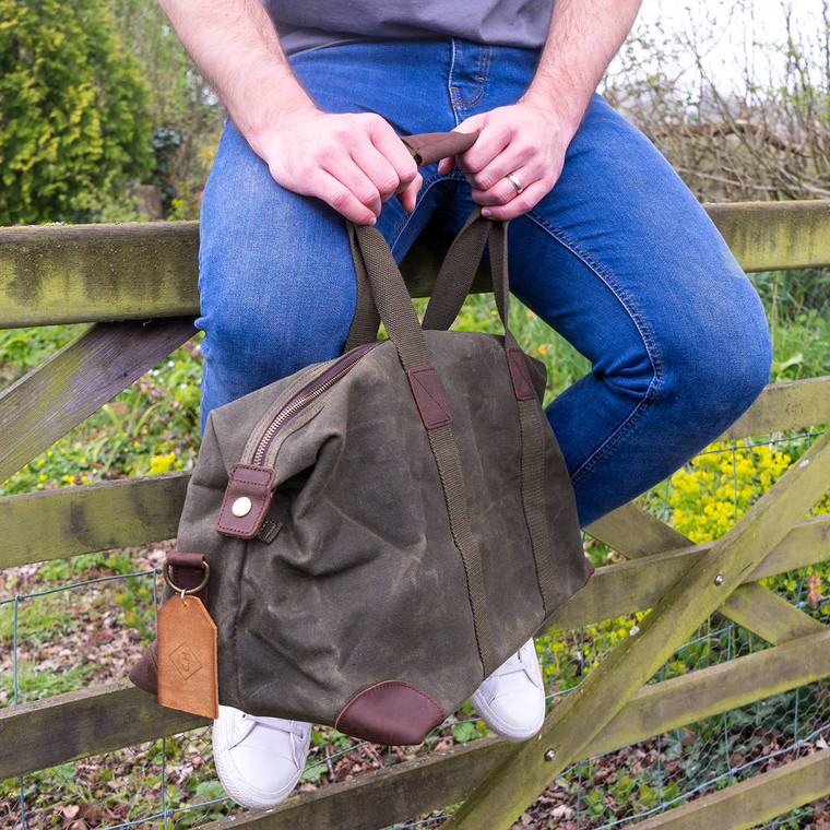 Monogram Waxed Holdall Bag