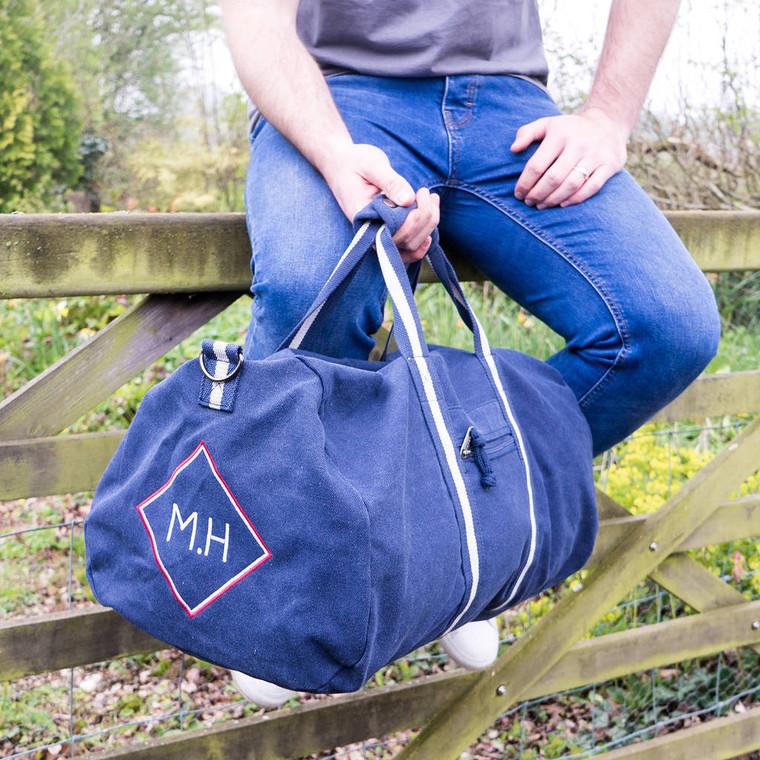 Embroidered Monogram Holdall Bag