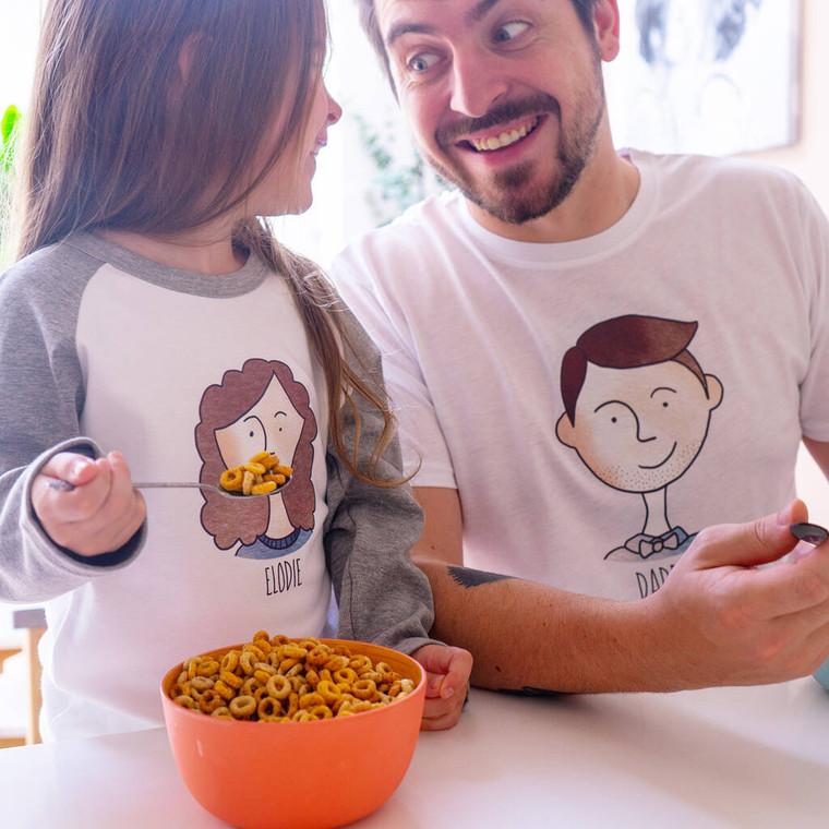 Daddy and Me Portrait Pyjama Set