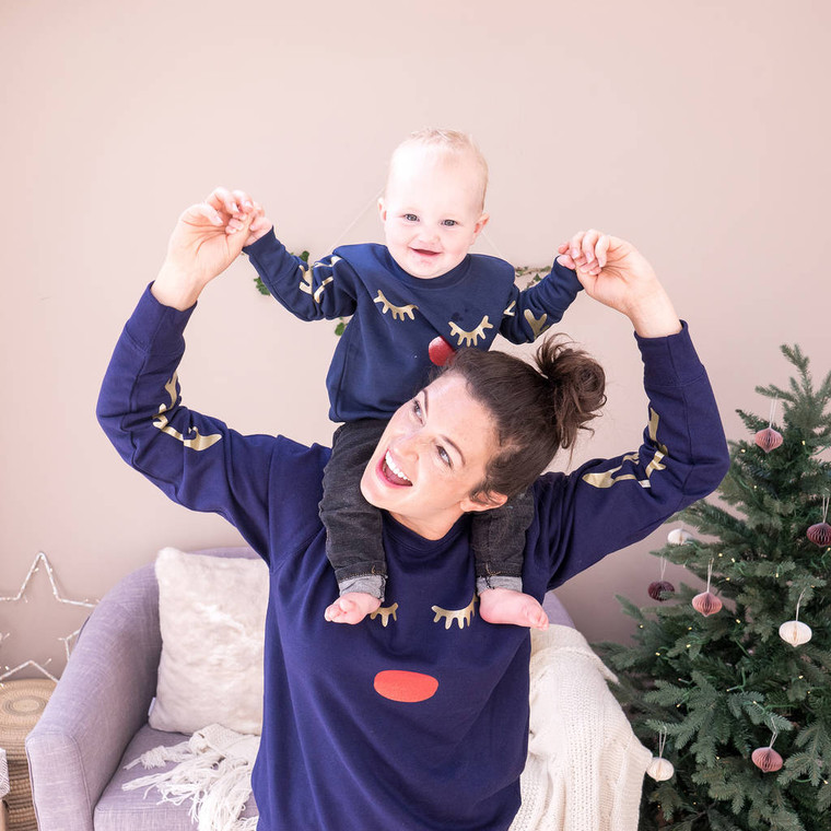 Antler Family Christmas Jumpers