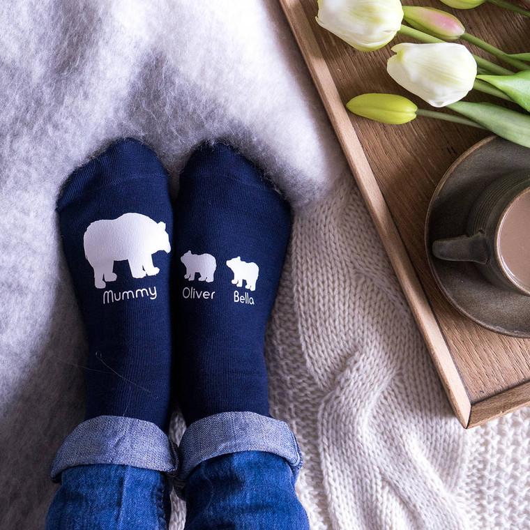 Polar Bear Mummy Socks