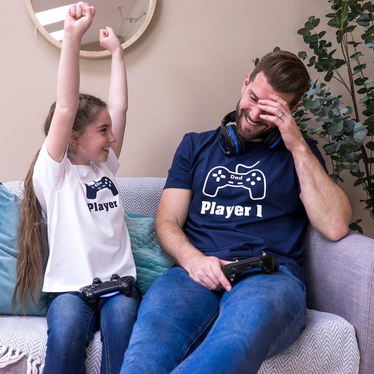 Big Gamer And Little Gamer T Shirt Set