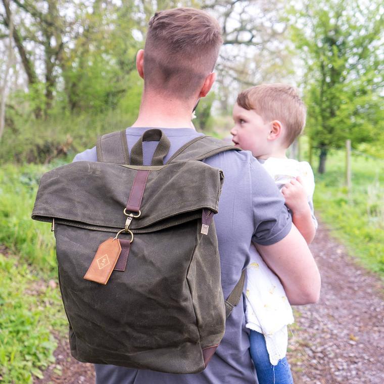 Monogram Baby Changing Waxed Backpack