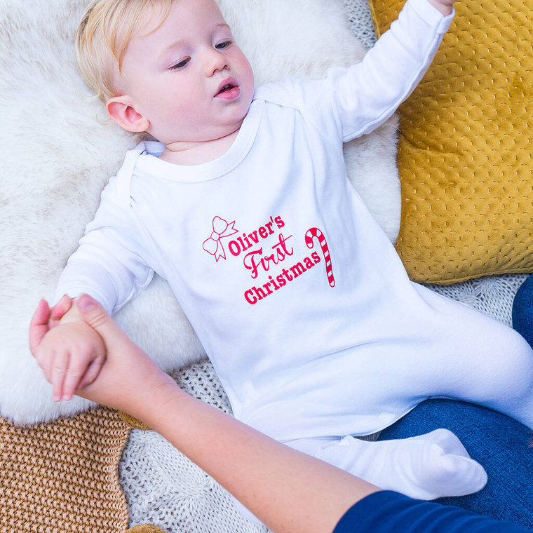 First Christmas Baby Sleepsuit