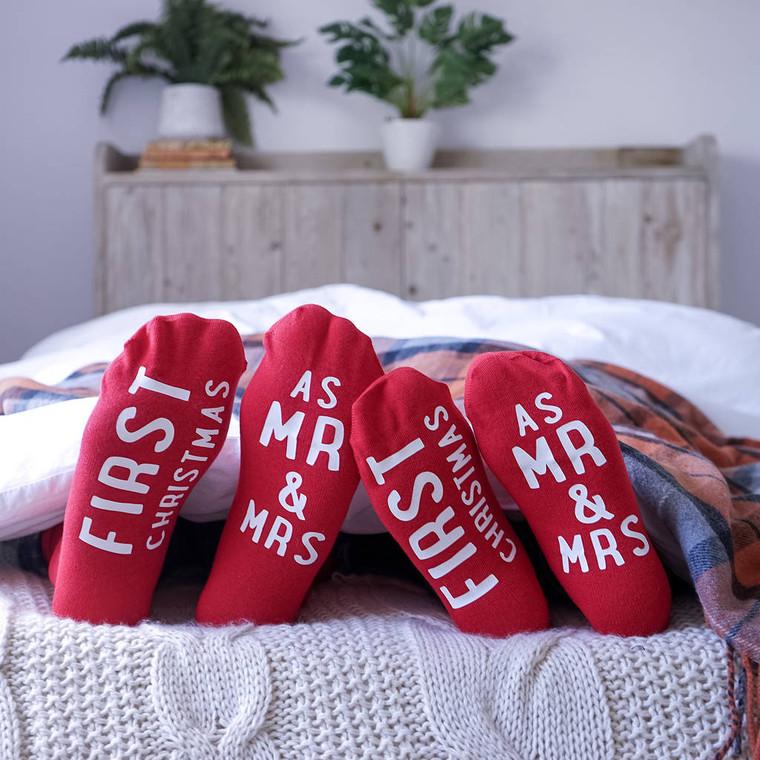 Mr And Mrs First Christmas Socks