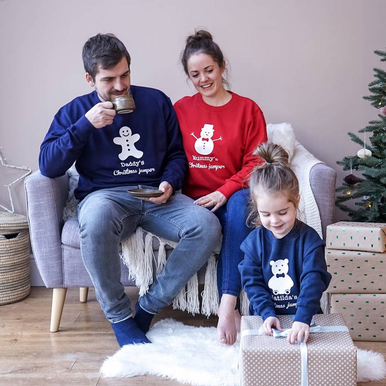 Personalised Family Christmas Jumper Set