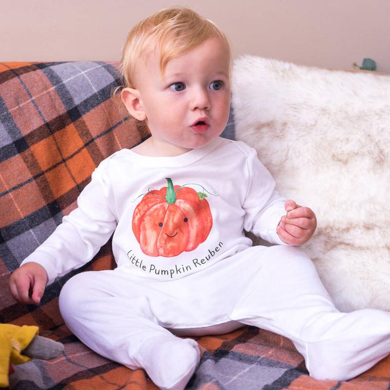 Little Pumpkin Halloween Sleepsuit
