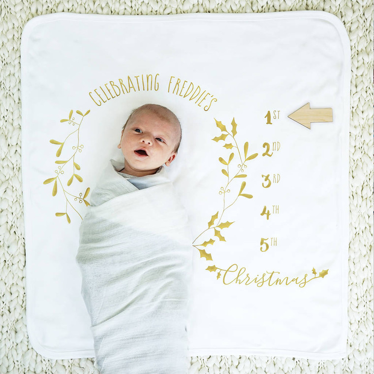 Baby Botanical Christmas Blanket Set