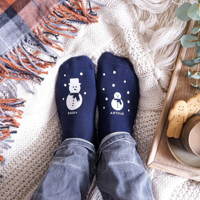 Snowman Family Socks