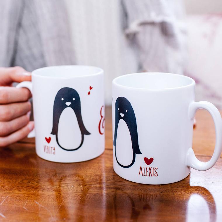 Penguin Couple Valentines Mug