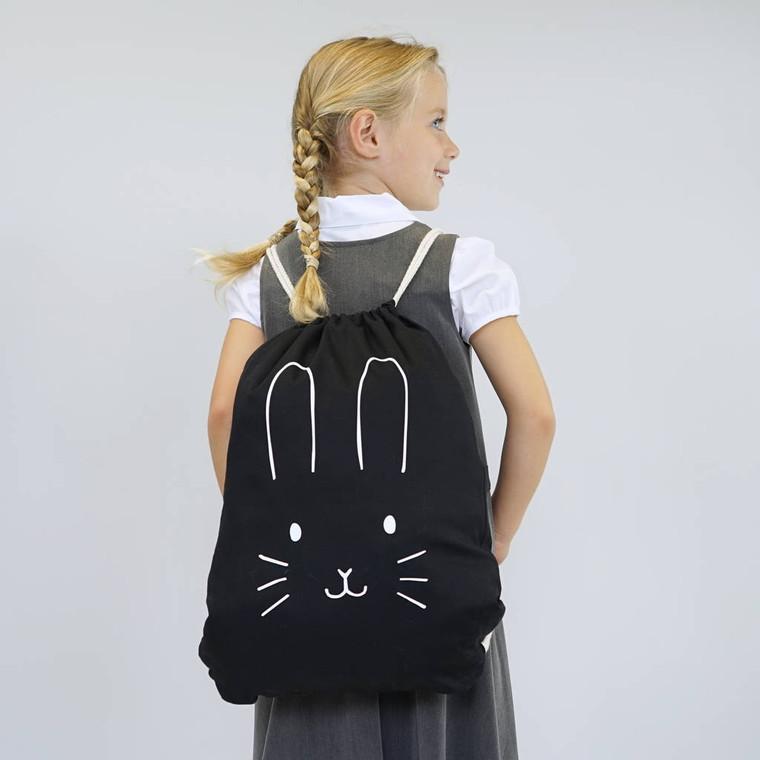Children's Bunny Face Gym Bag