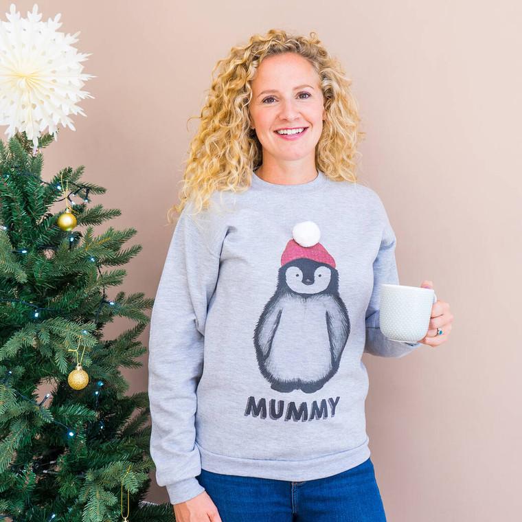 Applique Penguin Christmas Jumper