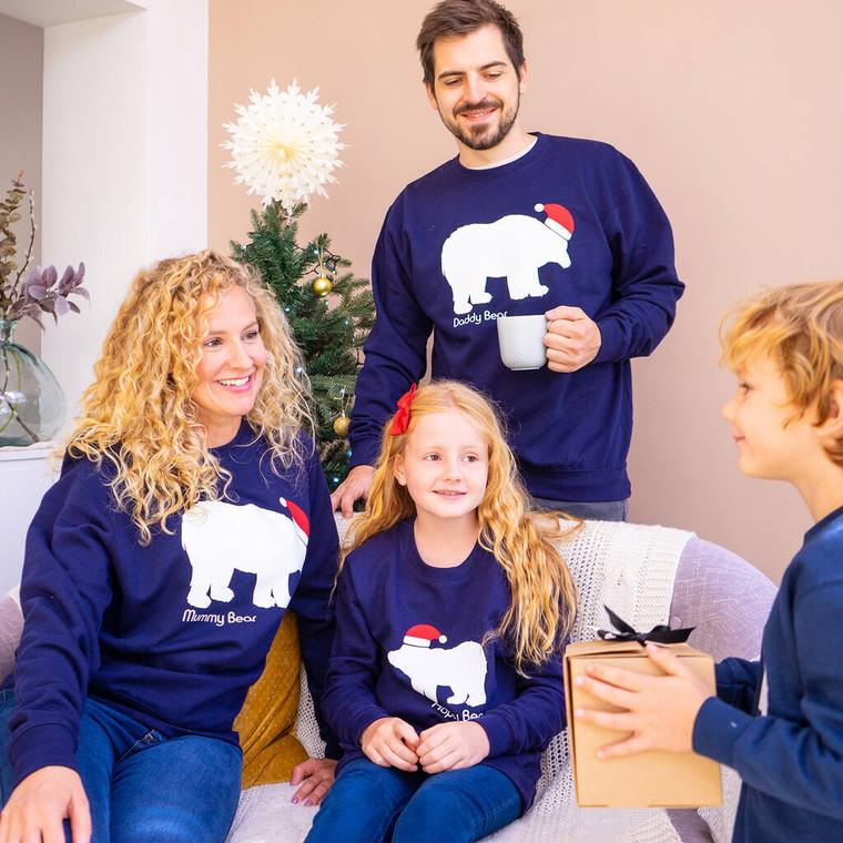 Family Polar Bear Christmas Jumpers