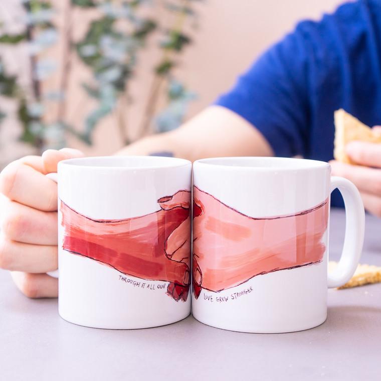 Our Love Grew Stronger Mug