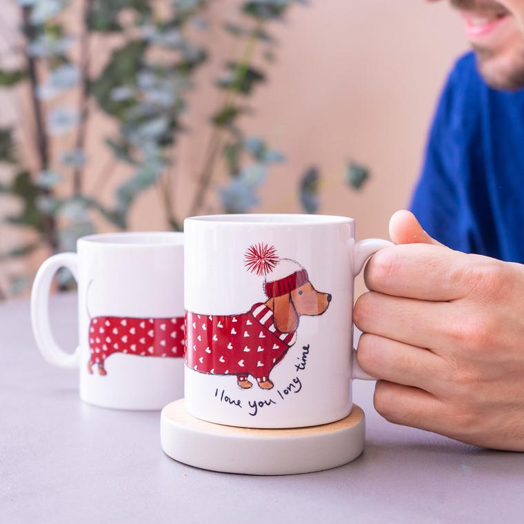 Love You Long Time Dachshund Mug