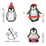 Applique Penguin Family Christmas Jumpers
