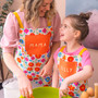 Personalised Floral Mummy and me apron set