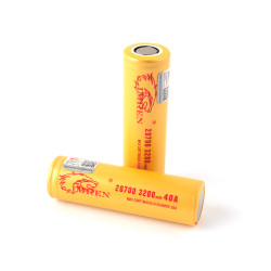 Imren (Gold) IMR 20700 (3200mAh) 40A 3.7v Battery Flat-Top - 2 Pack Wholesale