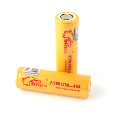 Imren (Gold) IMR 21700 (3750mAh) 40A 3.7v Battery Flat-Top - 2 Pack Wholesale | Imren Battery Wholesale