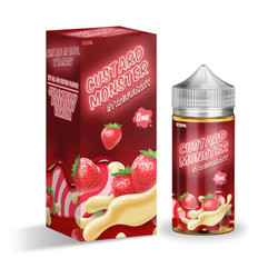 Custard Monster Strawberry Custard 100ml E-Juice Wholesale | Jam Monster WHolesale