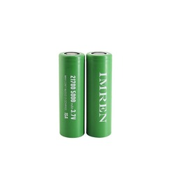 Imren (Gold) IMR 21700 (5000mAh) 15A 3.7v Battery Flat-Top - 2 Pack