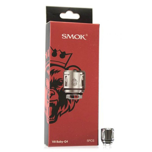 Smoktech TFV8 Baby Q4 Replacement Coil - 5PK Wholesale | SMOK Coil Wholesale