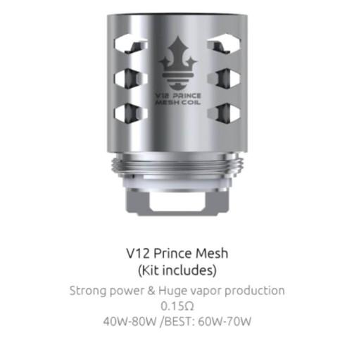 Smoktech TFV12 MESH Prince MESH Sub-Ohm Coils - 3 Pack