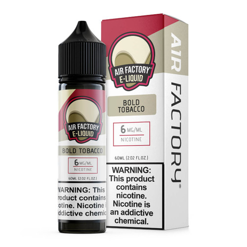 Air Factory Bold Tobacco 60ml E-Juice Wholesale | Air Factory Wholesale
