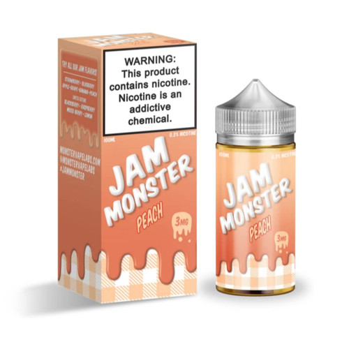 Jam Monster Peach 100ml E-Juice Wholesale | Jam Monster Wholesale