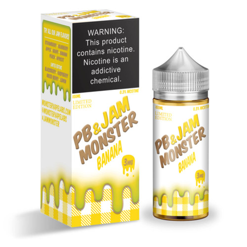 PB & Jam Monster Banana 100ml E-Juice Wholesale | Jam Monster Wholesale