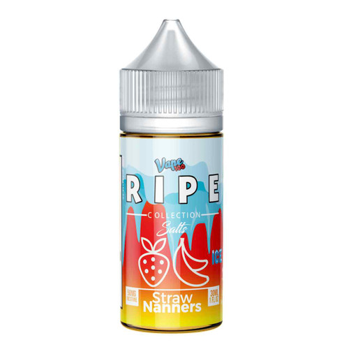 Ripe Ice Salts Collection Straw Nanners 30ml E-Liquid | Ripe Wholesale