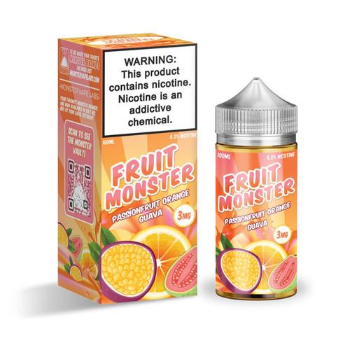 Fruit Monster Passionfruit Orange Guava 100ml E-Juice Wholesale | Jam Monster Wholesale