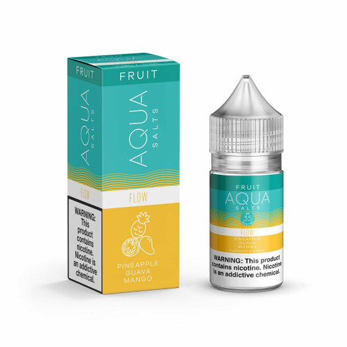 Aqua Salt Flow Synthetic Nicotine 30ml E-Juice Wholesale | Aqua Wholesale