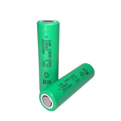 Imren (Green) IMR 18650 25RS (2500mAh) 25A 3.7v Battery Flat-Top - 2 Pack Wholesale | Imren Wholesale