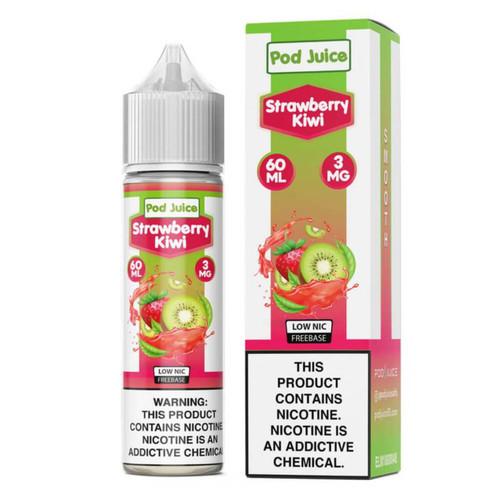 Pod Juice Strawberry Kiwi 60ml E-Juice Wholesale | Pod Juice Wholesale