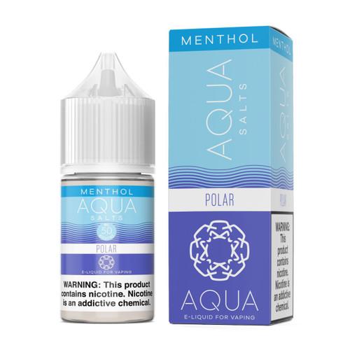 Aqua Salt Polar Menthol Synthetic Nicotine 30ml E-Juice Wholesale | Aqua Wholesale
