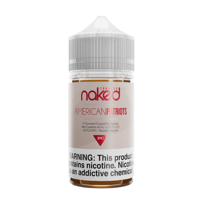 Naked 100 American Patriot 60ml E-Juice Wholesale | Naked 100 E-Liquid Wholesale