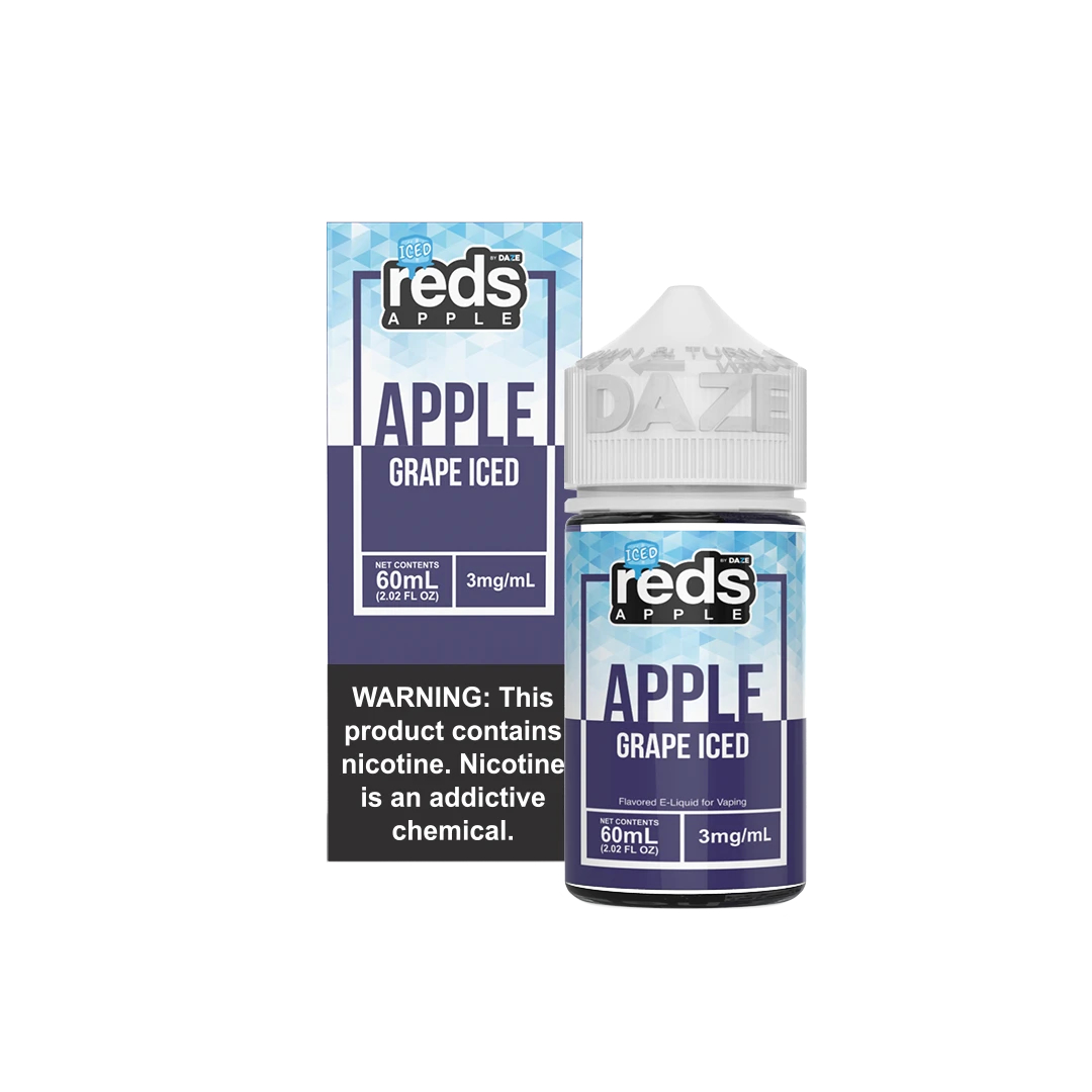 Red's Iced Grape 60ml E-Juice Wholesale   Red's Apple Ejuice Wholesale