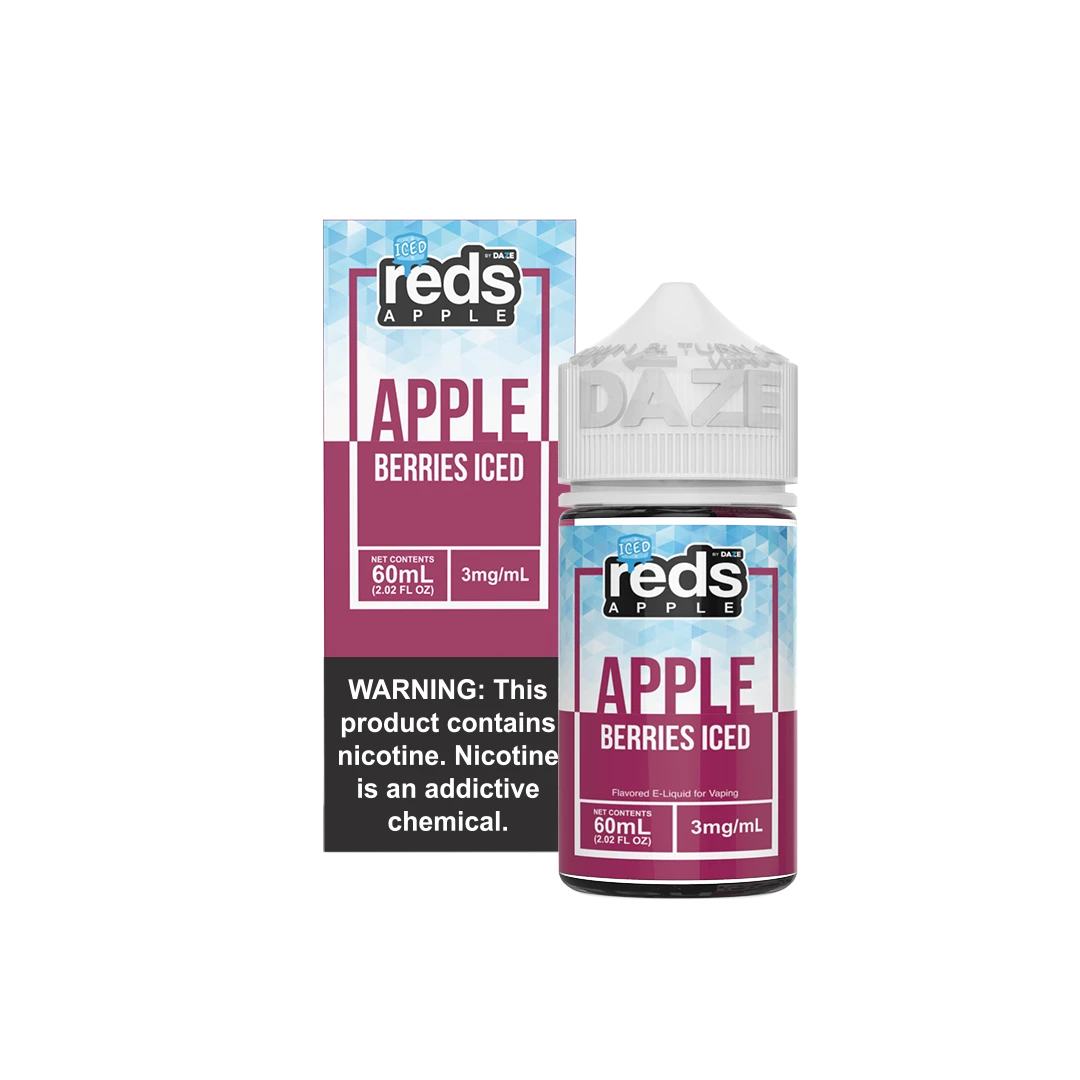 Red's Berries Iced eJuice  Wholesale   Red's Apple Ejuice Wholesale