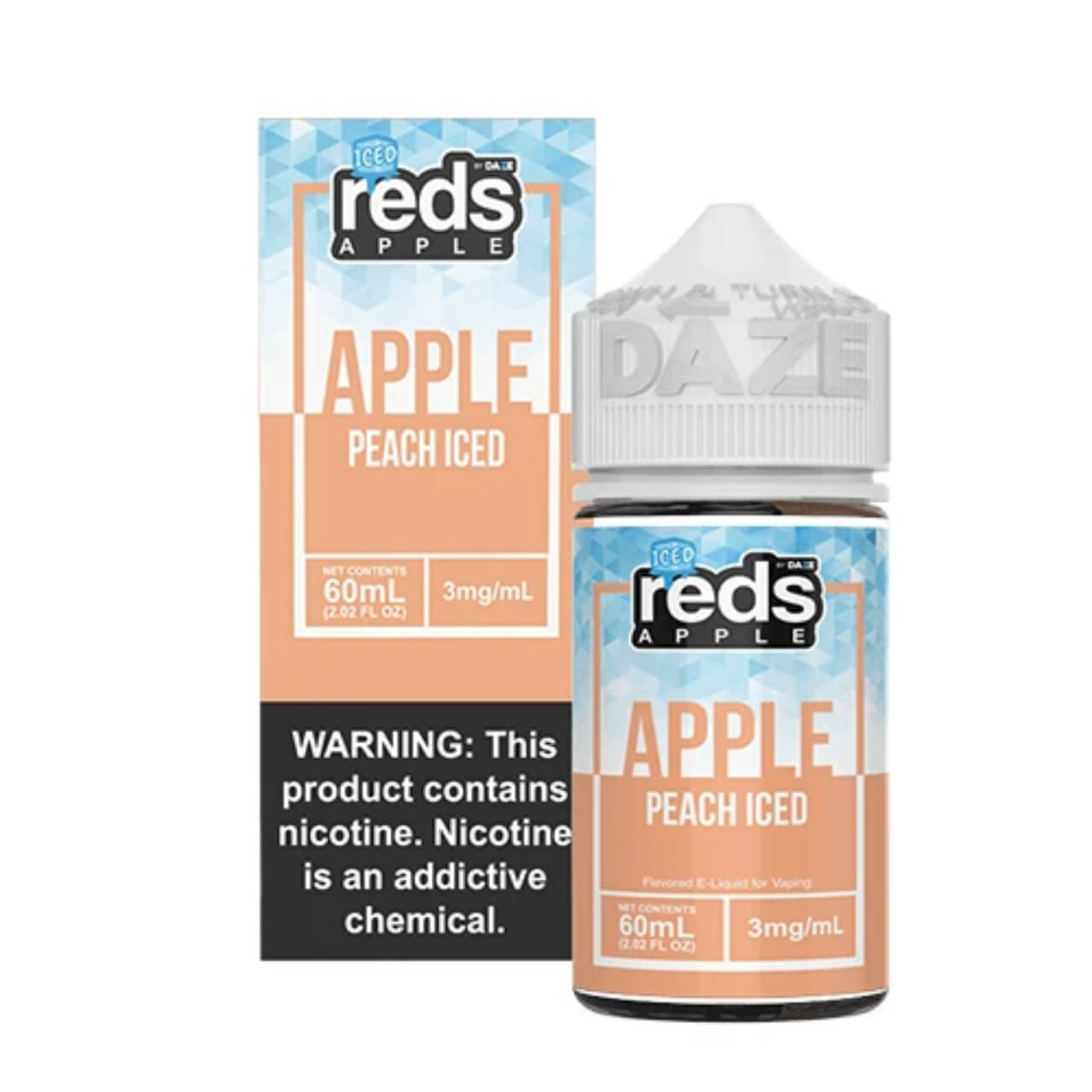 Red's Apple Peach Iced 60ml eJuice Wholesale | Red's Apple Wholesale
