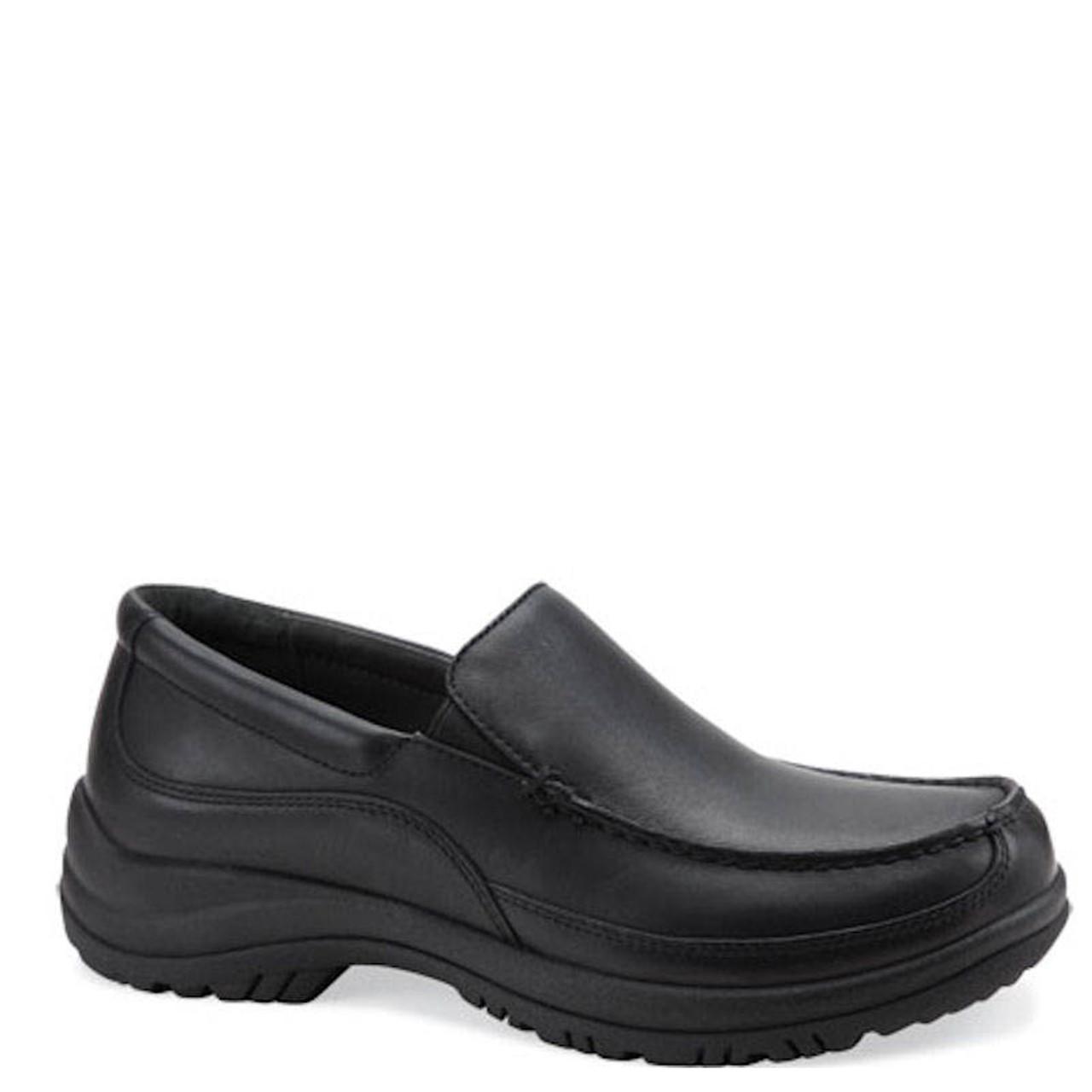 Dansko WAYNE Black Leather Slip-On