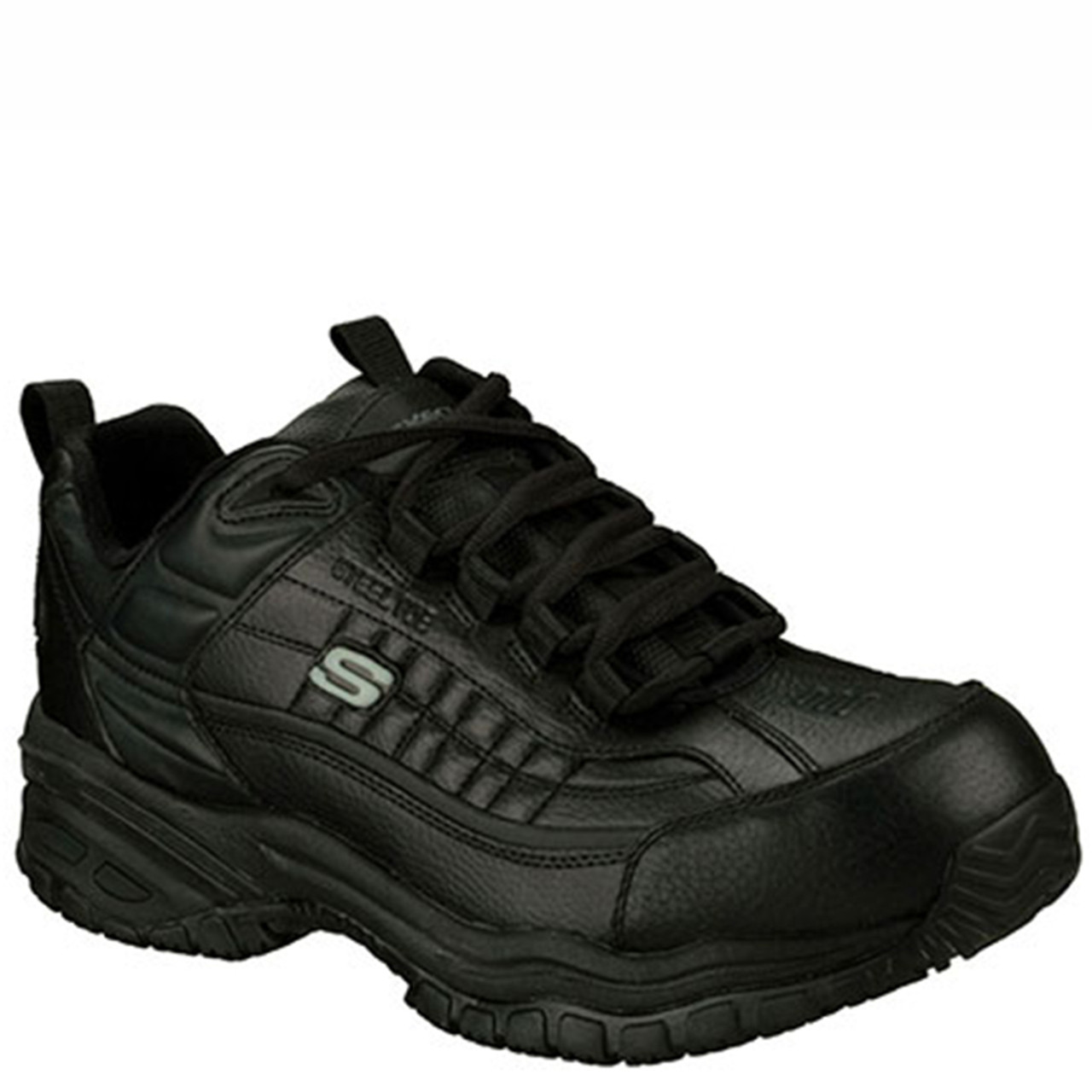 e7fa068205acf Skechers 76760 Soft Stride Steel Toe Slip Resistant Work Shoes