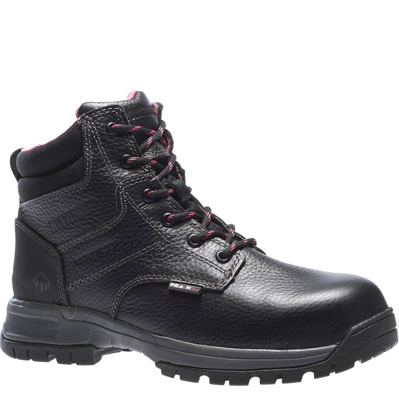 aedb4fae0c2 Wolverine W10181 DURASHOCKS PIPER Women's Composite Toe Security Friendly  Black Work Boots