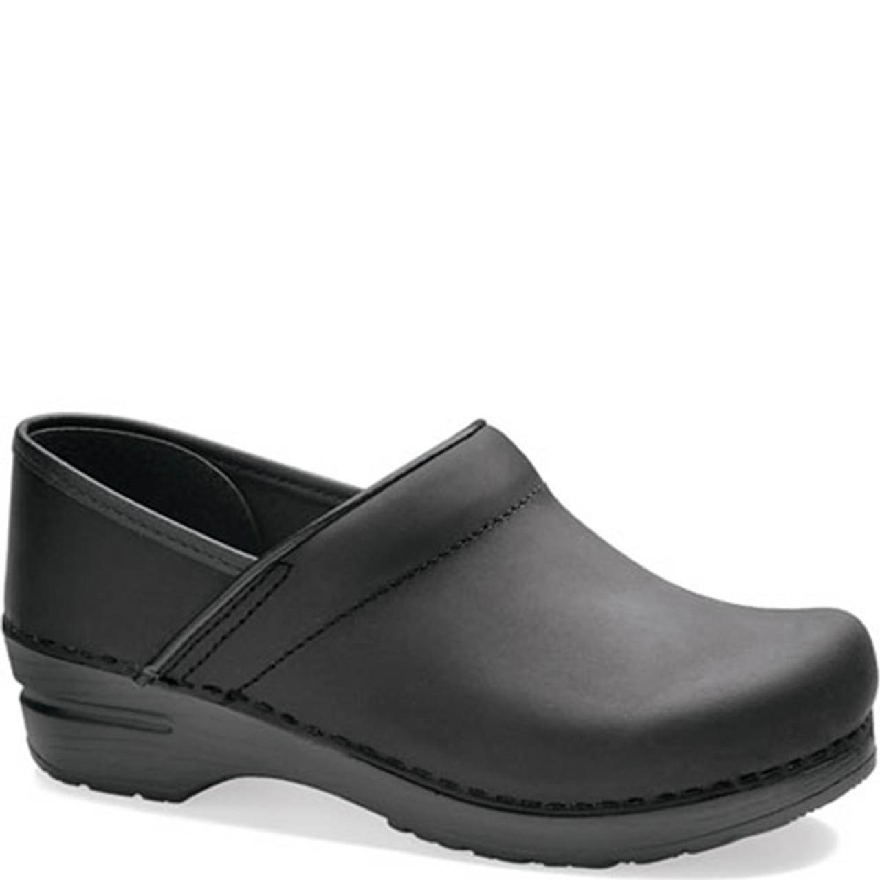 Dansko Shoes Black Oiled Clog