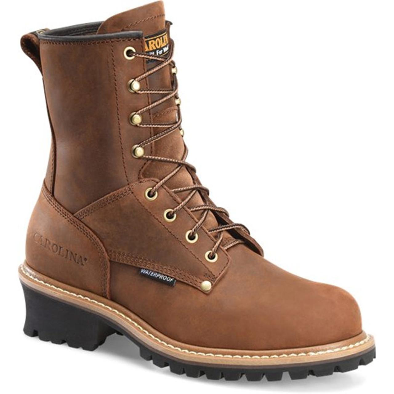 048ad323155 Carolina CA9821 ELM Steel Toe Non-Insulated Logger Boots