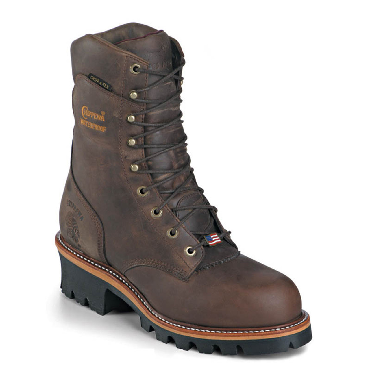 70a0bd4180f Chippewa 25408 USA ARADOR Soft Toe 400g Insulated Super Logger Boots