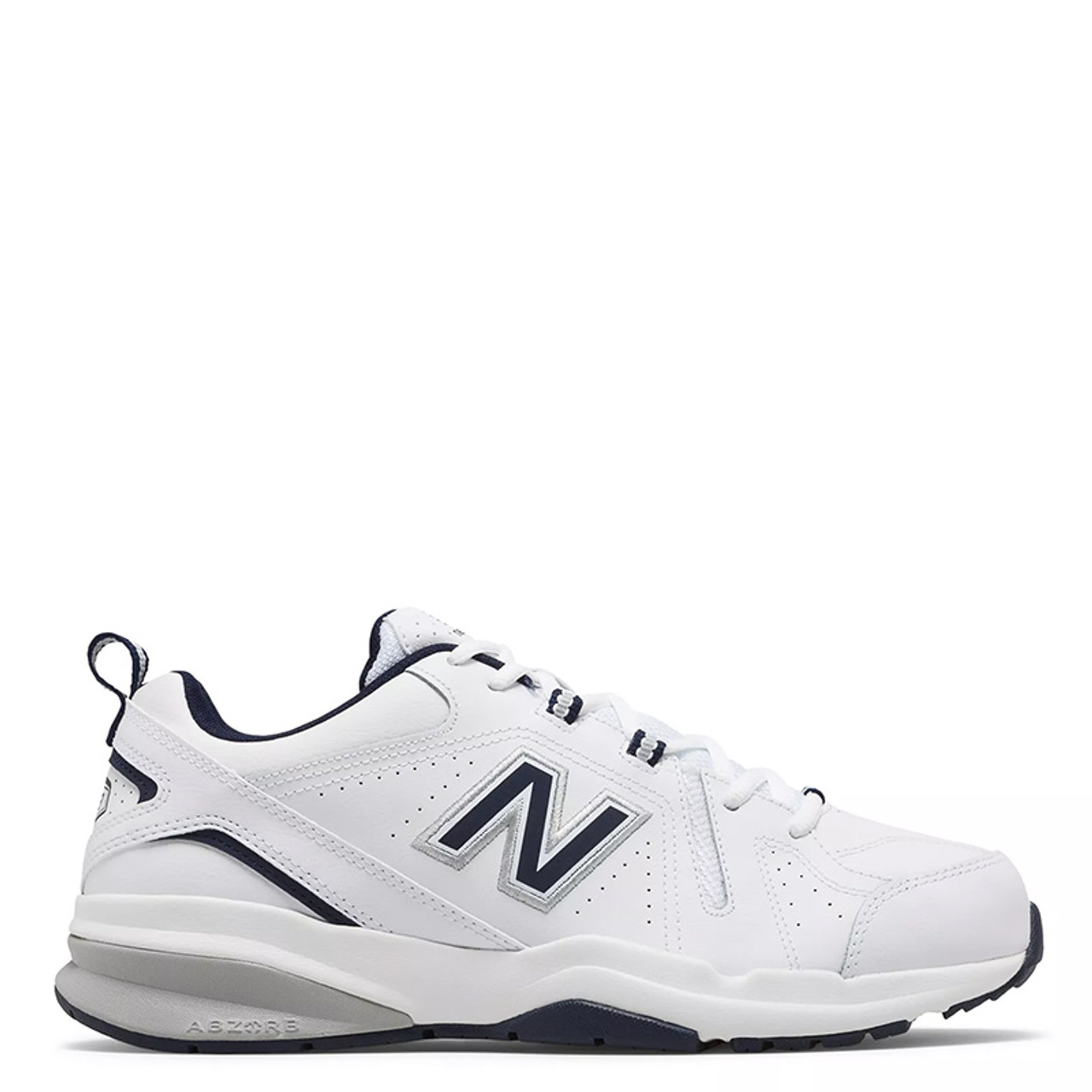 636528748f035 New Balance 608V5 Men's Classic White with Navy Leather Trainers - Family  Footwear Center