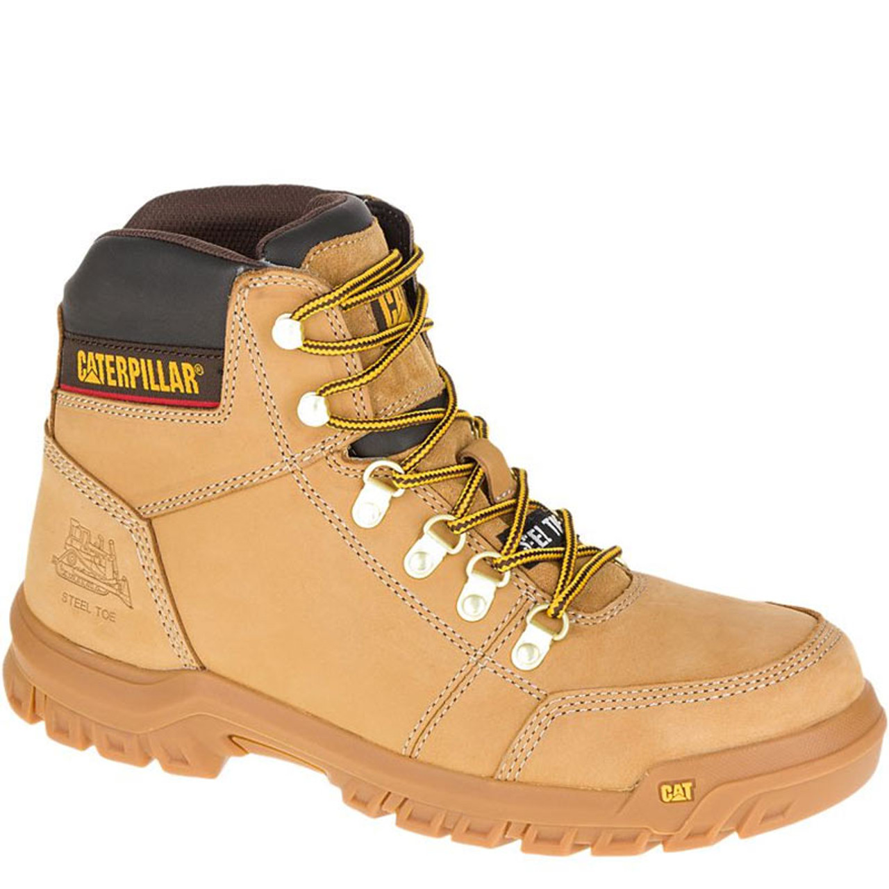 Cat P90801 Outline Steel Toe Non Insulated Gold Work Boots